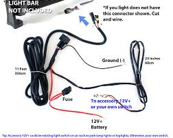 How To Wire Light Bar by Universal Wiring Relay Harness Switch For 36w 72w Led Light Bars