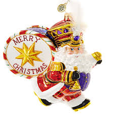 christopher radko ornament 2016 radko holiday marcher santa