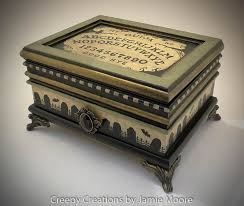 themed jewelry box creepy creations by ouija themed keepsake box