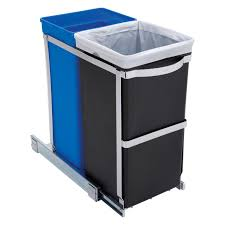 rev a shelf double soft close pull out 35 qt trash can hayneedle