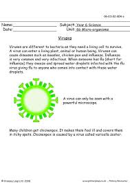 primaryleap co uk viruses worksheet