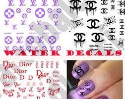 nail design center sã d louis vuitton nails etsy