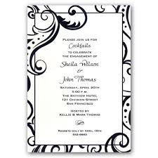 engagement party invitation wording filigree black engagement party invitations paperstyle