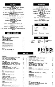 cocktail drinks menu drink menu refuge sxm restaurant