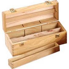 wooden storage box cleaning storage and painting aids