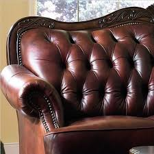 Leather Button Sofa Classic Button Tufted Leather Sofa Set Furniturendecor