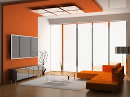 Best Paint For Walls by Orange And White Scheme Color Ideas For Living Room Decorating