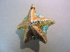 glass starfish ornament potterybarn coastalchristmasdecorations
