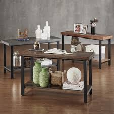 Sofa Tables Cheap by Tribecca Home Cyra Industrial Reclaimed Sofa Table Tv Stand