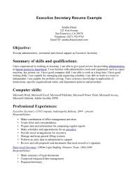 Good Resume For A Job by Executive Secretary Resume Berathen Com