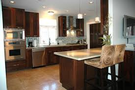 walnut wood ginger shaker door kitchen and bath ideas sink faucet