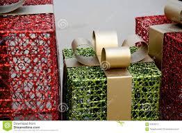metal christmas gift box decoration stock photo image 62836610