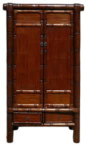 Armoire Solid Wood Chinese Solid Wood Carved Bamboo Simulated Cabinet Armoire Asian