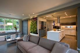 open plan kitchen living room ideas modern open plan living room and white kitchen island design ideas