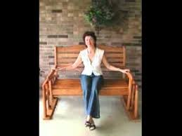 porch glider porch swing plans youtube