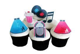 50s theme 12 edible cupcake toppers birthday