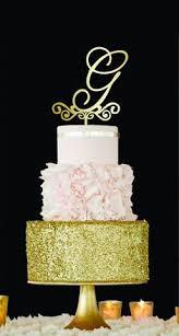 g cake topper letter h cake topper gold monogram wedding cake topper initial