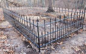 cast and wrought iron fenced enclosures researched and conserved
