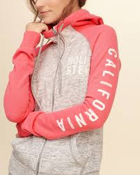 Hollister Clothes For Girls Hollister Colorblock Logo Graphic Hoodie In Pink Lyst