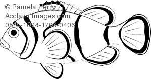 art image clown fish coloring