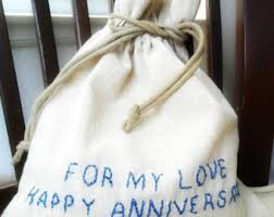 cotton anniversary gifts for him anniversary bags etsy