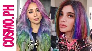 hair color for pinays what if pinay celebs had rainbow hair youtube
