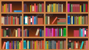 Background Bookshelf Bookcase Vector Illustration By Olegganko Graphicriver