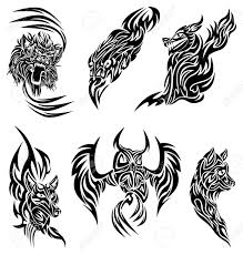 tribal owl tattoo wild animals tattoo royalty free cliparts vectors and stock