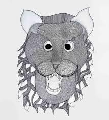 lion mask buy paper 15 x 11 inch lion mask unframed gond by de kulture