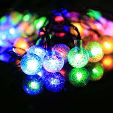 5m led multi color string lightsar power bulb outdoor