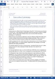 business plan template ms word for startup and small businesses