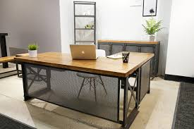 Executive Office Desk With Return Iron Age Office Executive Carruca Office Desk L Shape