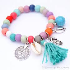 glass bead bracelet charms images 2018 bohemian shell charm bracelets handmade accessories tassel jpg