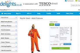 tesco fancy dress supermarket giant apologises and removes
