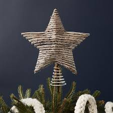 rattan tree topper crate and barrel