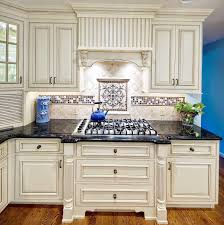 White Kitchen Cabinets With Granite Countertops Cream Kitchen Cabinets With Black Countertops S