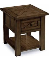 rustic pine end table memorial day sale magnussen home furnishings fraser farmhouse