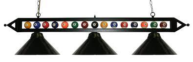 pool table l shade replacement amazon com 59 black metal ball design pool table light billiard