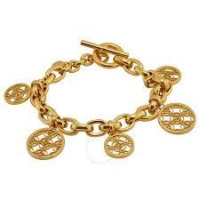 Gold Monogram Bracelet Michael Kors Open Monogram Disc Charm Bracelet Michael Kors