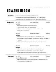Free Basic Resume Template Basic Resume Template Basic Resume Template 51 Free Sles