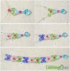 make bead flower bracelet images Easy tutorial on making beaded flower bracelet for women jpg