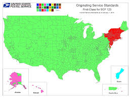usps class shipping map how the service standards may much more mail than