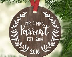 ornament married wedding gift for