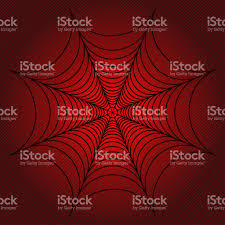 halloween red background spider web cobweb on red dotted background illustration resterized