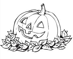coloring pages alluring halloween color pumpkin coloring