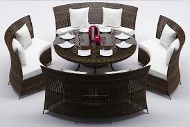 rattan dining room furniture rattan dining table set 2 3d model cgtrader