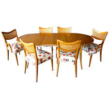 bleached mahogany dining room set designed by harvey probber c