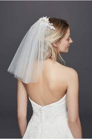 bridal veil one tier blusher veil david s bridal