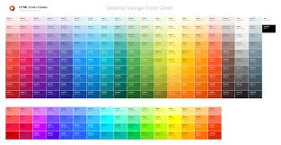 material design color chart u2014 html color codes