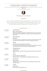 Paraprofessional Resume Sample by Server Hostess Resume Samples Visualcv Resume Samples Database